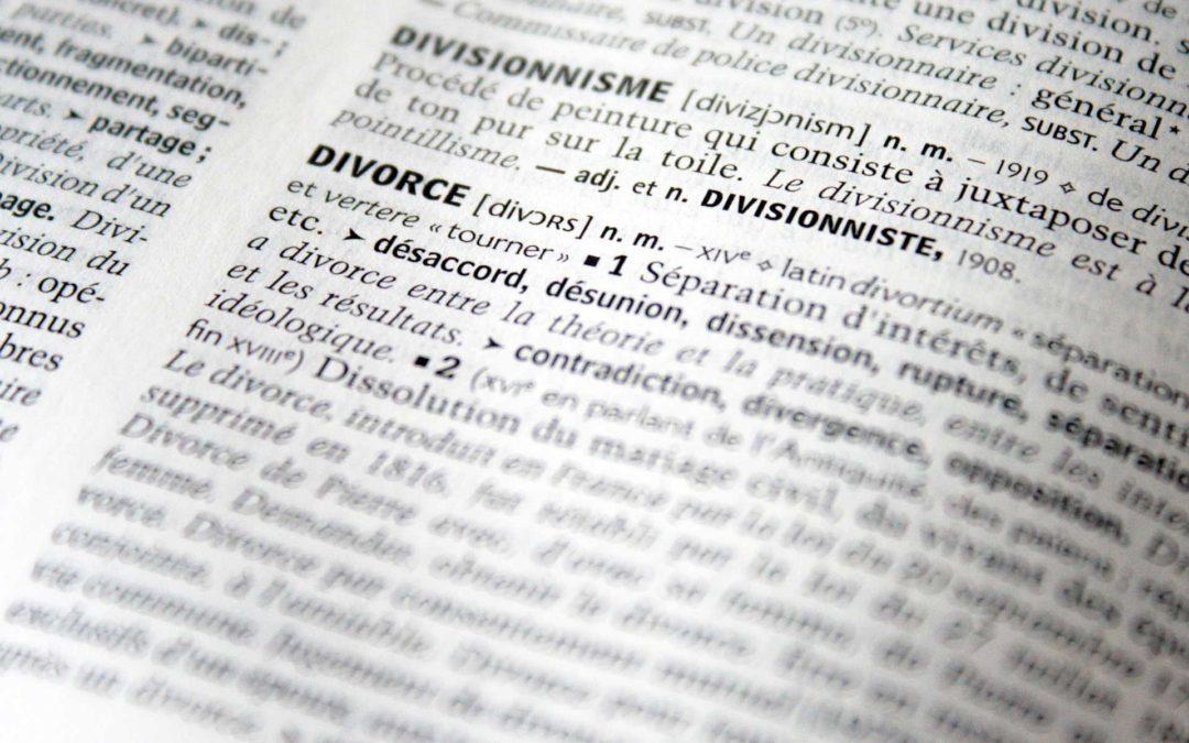 Momento en que se disuelve la sociedad de gananciales en caso de divorcio